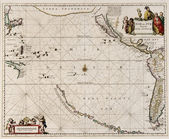 Pacific ocean old world map — Photo