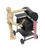 Preparing the Barbecue grill — Stock Photo