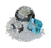 Large and Small Diamonds and Gem — Stock Photo
