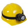 Hard Hat With Lamp — Stock Photo