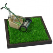Retro Lawn Mower on the Grass — Stock Photo