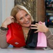 Happy woman with shopping bags — Stock Photo #6751382