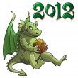 Dragon, symbol of the year — Stockvectorbeeld