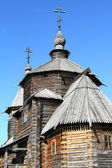 Wood orthodox architecture — Стоковое фото