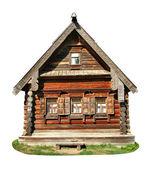 Trä hus — Stockfoto