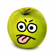 Angry apple — Stock Photo