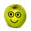 Happy apple - Stock Photo