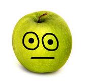 Shocked apple — Stock Photo