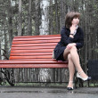 Girl on the bench — Stock Photo #7150534