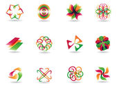Abstract colorful icons — Stock Vector