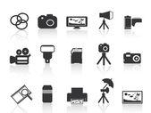 Icône élément photographie — Vecteur