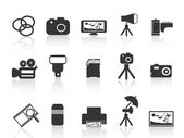 Pictogram van het element fotografie — Stockvector