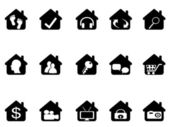 Haus-icon-set — Stockvektor