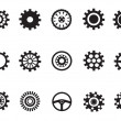 Silhouetted vector of Machine Gear — Stok Vektör