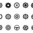 Stock Vector: Silhouetted vector of Machine Gear