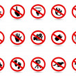 Royalty-Free Stock Vector Image: Set of prohibited sign