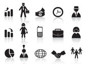Set di icona di affari — Vettoriale Stock