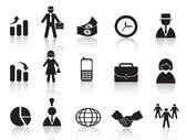 Uppsättning av business-ikonen — Stockvektor