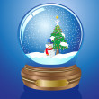 Christmas Snow globe — Stock Vector
