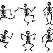 Skeletons dancing — Stockvectorbeeld