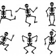 Stock Vector: Skeletons dancing