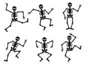 Skeletons dancing — Stock Vector