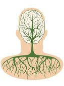 Brain tree — Stock Vector