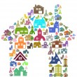 Colorful home symbol - Stockvektor