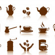 Stock Vector: Coffee icon set
