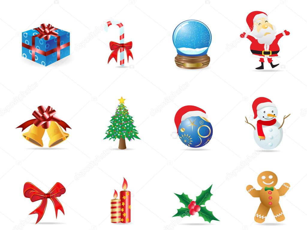 Some christmas icon set for christmas design — Stock Vector #7678430
