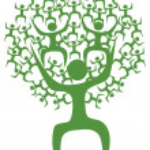 Abstract eco green tree man — Stock Vector #7917657