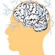 Stock Vector: Concept of brain power