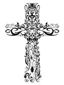 Christian pattern Cross decoration design — Stock Vector