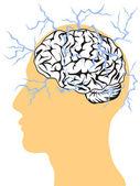Concept of brain power — Stock Vector