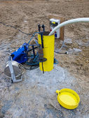Testing hydrology borehole — Stock Photo
