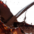 Pouring chocolate — Stock Photo