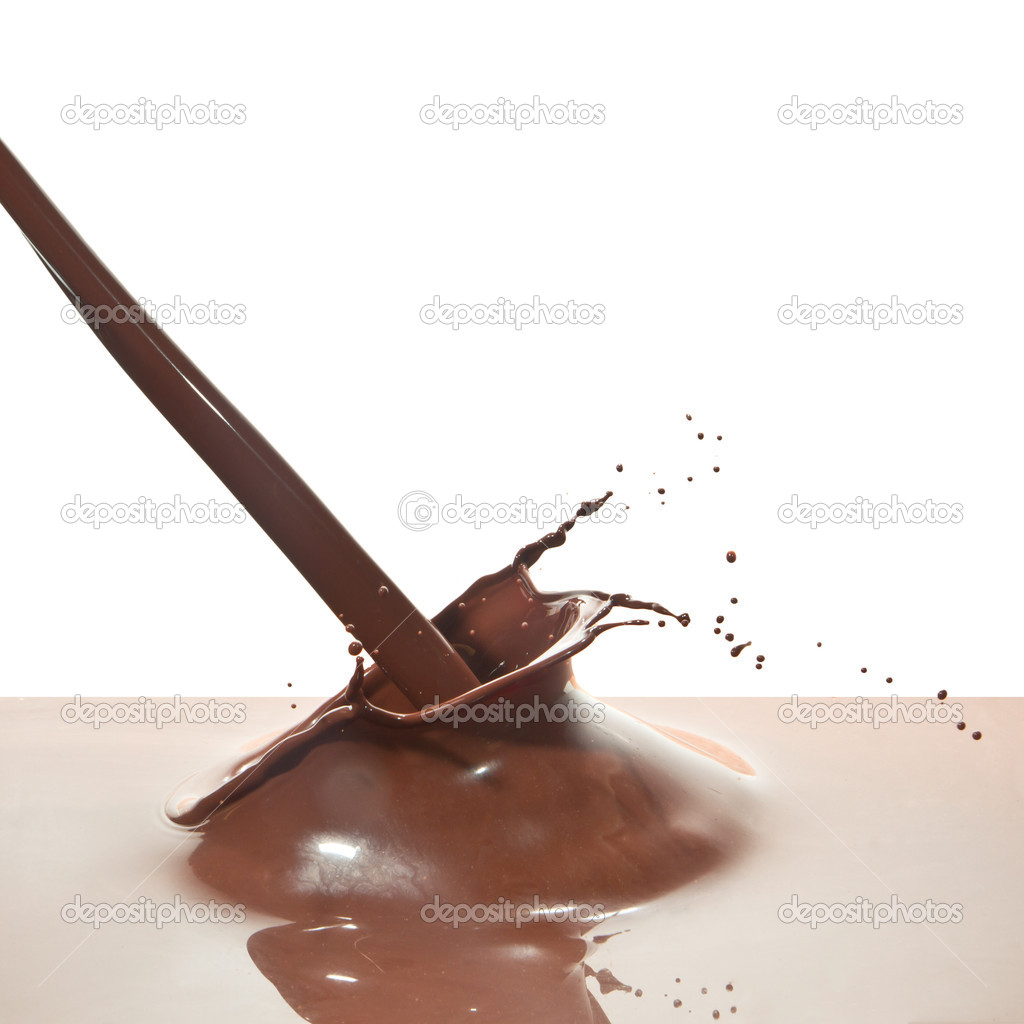Splash of chocolate isolated on white background — Stock Photo #7450027