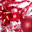 Ball with ribbon and tinsel - Stockfoto