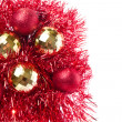 Christmas balls with tinsel — Stockfoto