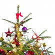 Decorated christmas tree - Stockfoto