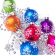 Royalty-Free Stock Photo: Christmas balls with snowflake symbols