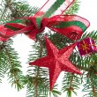 Decorated christmas branch - Stockfoto