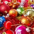 Christmas balls and tinsel - Lizenzfreies Foto