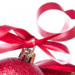 Ball with ribbon and tinsel - Lizenzfreies Foto