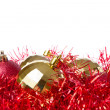 Christmas balls with tinsel — Stock Photo #7656595