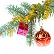 Decorated christmas branch — Stock Photo #7656607