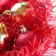 Christmas balls with tinsel — Stock Photo #7656616