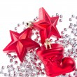 Christmas decoration with tinsel — Stock Photo #7656633