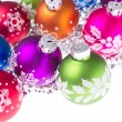 Christmas balls with snowflake symbols - Photo