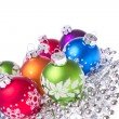 Christmas balls with snowflake symbols — Stock Photo #7656656